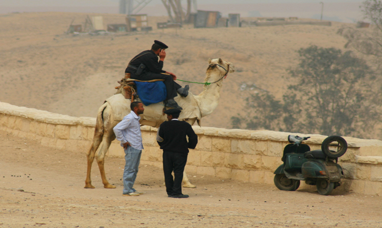 Policeman near the Pyramids