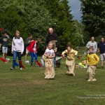 Great fun in the sack race