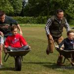 The wheelbarrow race